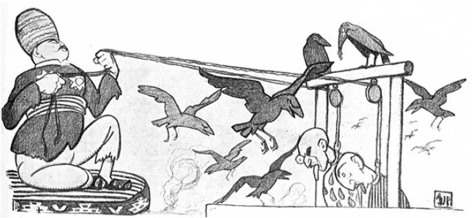 Шах Персидский раскаялся во всем. Дал в 13 487-й раз Конституцию и теперь мирно занимается откармливанием птиц