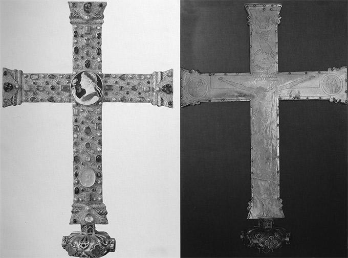 Илл. 35. «Крест Лотаря», вотивный крест Оттона III. Ок. 1000 г. Аахен, сокровищница собора