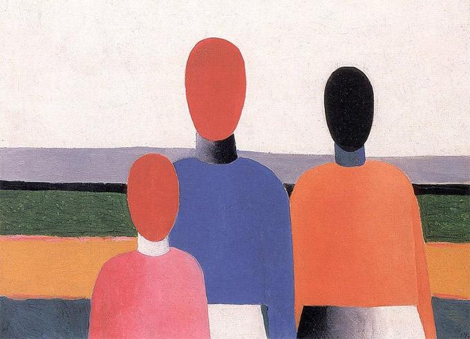 Казимир Малевич «Три женских фигуры». Начало 1930-х, Государственный Русский музей, Санкт-Петербург